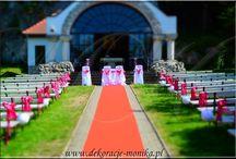 dekoracje plenerowe, dekoracje sal, dekoracje kościołów, dekoracje samochodów, bukiety ślubne