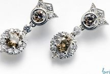 Naturally Coloured Diamond Earrings - Britton Diamonds / These stunning, naturally coloured diamonds all belong to our Couture collection. All centre diamonds are GIA or AGS certified.  All diamonds are sourced in strict adherence with the code of ethics set by the Canadian Jewellers Association.