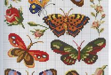 cross stitch - motýli