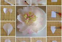 Вафельные цветы торт