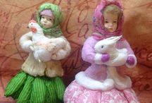 vatové panenky,ozdoby
