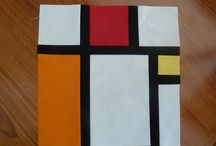 Mondrian quilt / My inspiration to make a Mondrian quilt for sis