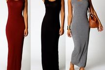 Simple Fitted Maxi Dress