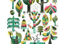 ilustración vegetación