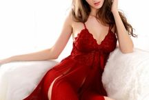 red nightgown lingerie