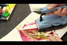 malování žehličkou