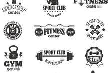 siłownia, logo i inne