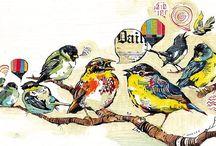 Birds/ birdcages and florals