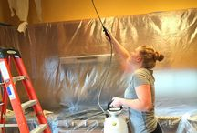 DIY: Scraping Popcorn Ceilings
