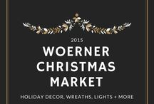 Woerner Christmas 2015 / We have an incredible selection of #ornaments, #wreaths, Christmas collectables, nativity scenes, life-size decorations, lights, ribbon, garland and more! #Woerner #Pensacola