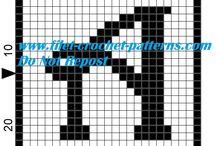 Filet crochet free patterns Alphabet