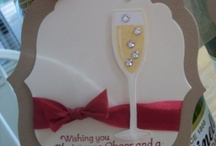 Wine bottle tag for a happy anniversary