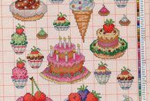 Вышивка схема пирожное