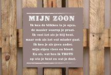 Tekstborden van Versierendoejezo.nl / Tekstborden van steigerhout, mdf en metaal. Verkrijgbaar op www.versierendoejezo.nl