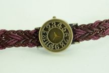 Bracelets and Watches / Perfect Watches and Bracelets made of leather.