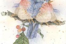 Рисунки для декупажа-птицы, бабочки