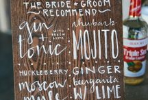 Wedding Signage / So many beautiful signs, whether it be directing people, menus or drink choices.  Perfect.