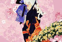 Papier peint japonais / Dessin japonais