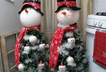 Xmas tree snowmen / Xmas tree snowmen