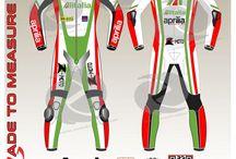 Max baggi aprilia racing motogp leather suit