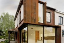 homes with corten steel