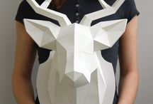 polygonal paper animals