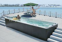 Swim spa landscaping