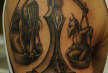 Weegschaal tatoeages