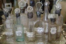 old bottles / vintage / brooch