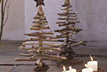 Weihnachtsbäume selbstgemacht aus Holz
