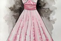 Water Colour Dresses by Collette