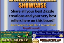 Worldwide Zazzle Showcase / The ultimate Zazzle meeting place where Associates find the hottest-sellers & Sellers find hungry Associates! We encourage you to showcase your very best Zazzle designs. Post the creations that you are most proud of, your finest artwork or your very best sellers. If you want associates to re-pin your designs be sure to tell us how many (if any) you've sold. If you have a real hot seller our visitors won't hesitate attach their associate ID# and help you sell it.