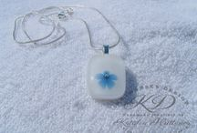 My fused glass works - kathajewellery.com - webshop