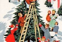 Pretty Vintage Christmas Scenes