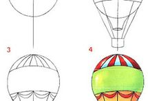 Hot air balloons/sphere drawing