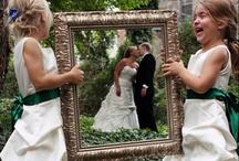 Kaart en foto trouwen
