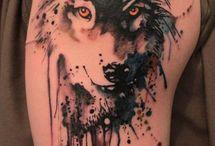 husky tattoos