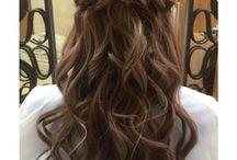 カラードレス 髪型 ダウン