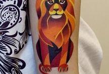 Tattoos Farbe