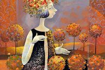 Женские образы декоративная живопись