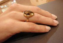 Handmade rings with Gem Stone
