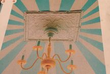 Circus fun / Turquoise striped ceiling
