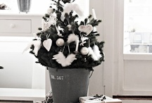 white Christmas / Christmas, decoration, mood, style