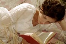 woman reading - photography