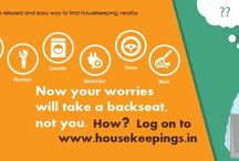 Housekeepings / All of us lead hectic lives today and at the end of the day, we yearn for a neat house and piping hot food, somebody to drive your car and other household chores to be done perfectly. But these small desires of ours may seem like a tall order.  But not anymore! At Housekeeping, you can find and directly contact skilled and trustworthy housekeepers.