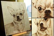 Woodburning portraits