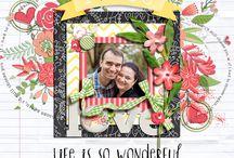 Weeds&Wildflowers / Digital scrapbook LOs