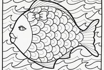 Fish - coloring pictures