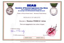 Médaille d'argent de la Société d'Encouragement au Bien / Médaille d'argent de la Société d'Encouragement au Bien