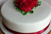 ruby wedding cake